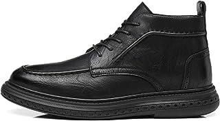 Bottes d'Oxford pour hommes Cuir synthétique mi-toit perforé épais en caoutchouc épais chaussures décontractées Fournir le...