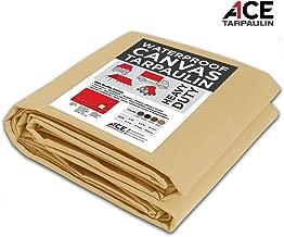 Premium Heavy Waterproof Canvas Tarpaulin (18x24, Sand)