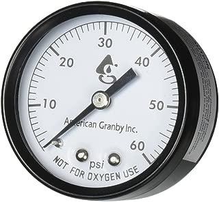 American Granby 2 Inch Back Mount Pool Filter Pressure Gauge - 0-60 PSI