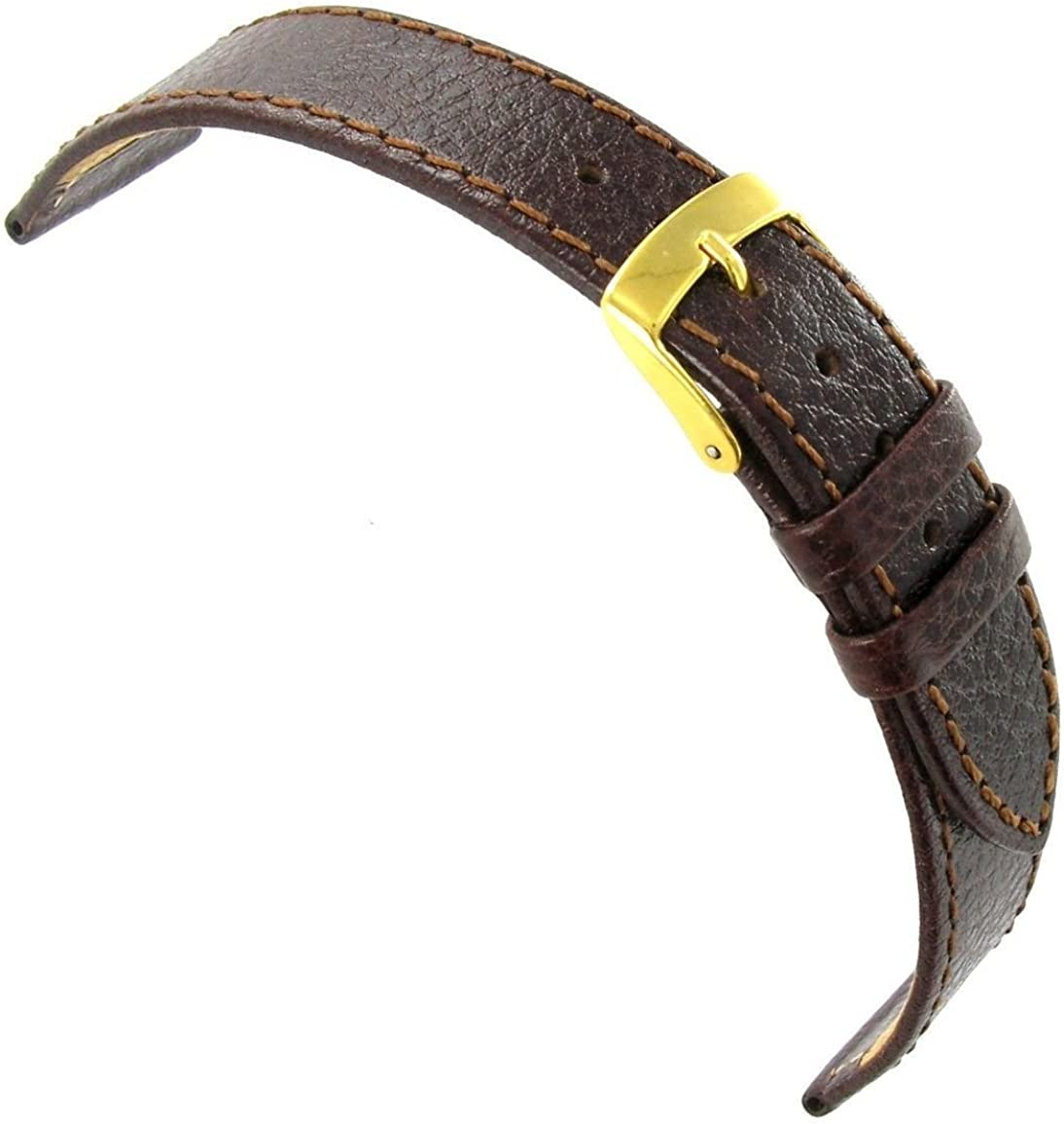 20mm Milano Topics on TV Lt. Brown Tapered Leather Stitched Italian El Paso Mall W Genuine