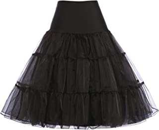 50s Petticoat Skirt Rockabilly Dress Crinoline Underskirts for Women