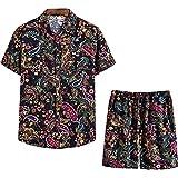 Pantalones Cortos De Camisa Estampada De Manga Corta para Hombre De Moda Casual De Verano para Hombre