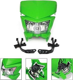 AnXin Universal Motorrad Scheinwerfer Scheinwerfer Scheinwerfer mit LED Drehlicht für Kawasaki KLX250 KLX110 KX65 KX85 KX500 Dirt Pit Bike Motocross   Grün