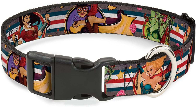 BuckleDown PCWJL032S Dog Collar Plastic Clip Buckle, DC Bombshell PinUp Girls, 1 2 x 915