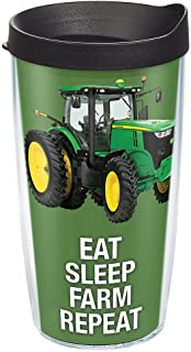 Tervis John Deere - Colossal Tractor Tumbler with Wrap and Black Lid 16oz, Clear