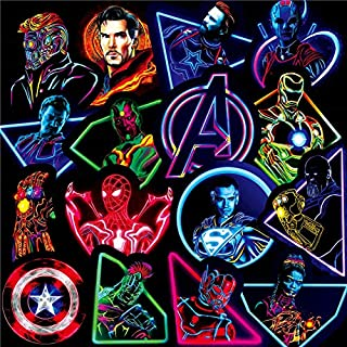 30 PCS Graffiti Vinyl Avengers Superhero Marvel Stickers Waterproof for Skateboard Guitar Travel Case Sticker Door Laptop ...