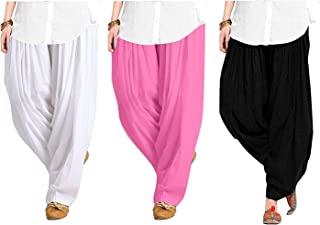 914aa1da265ae0 Kalpit Creations Traditional Women's Soft 100% Cotton Patiala Bottom Salwar  Combo pack [black-