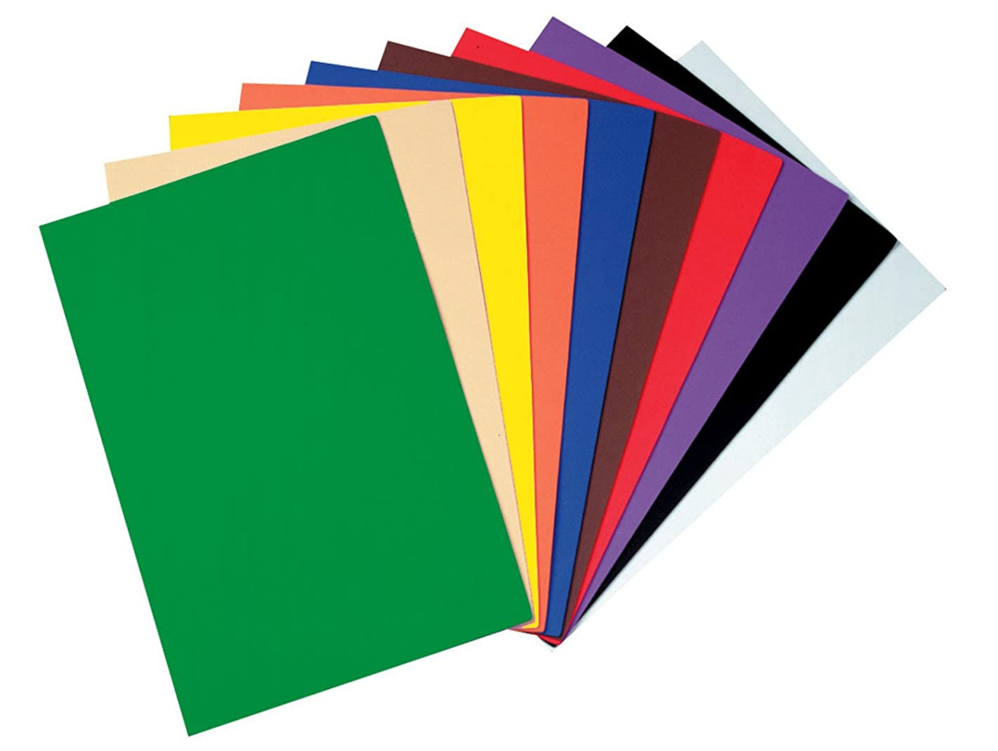 Creativity Street WonderFoam Peel & Stick Sheets, 12-inches x 18-inches, Assorted Colors, 10 Sheets (AC4306)