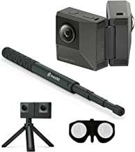 Insta360 EVO All-in-One Bundle: 180 3D + 360 Degree Action Video Camera with FlowState Stabilization + Invisible Selfie Stick, Headset and VR Ready (SD Card Sold Independently V30 microSDXC Required)