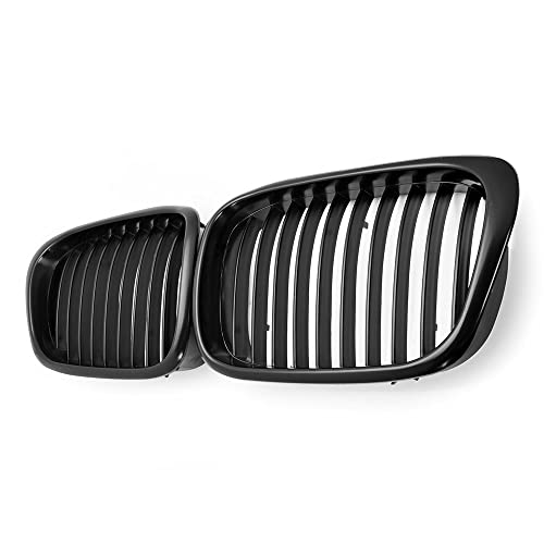 2x Euro Front Center Kidney Grille Grill For 97-03 BMW E39 5-Series