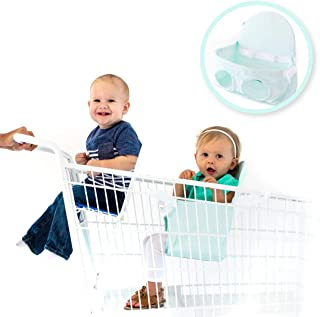 Buggy Bench The Original Shopping Cart Seat Carrier (Mint Green) for Baby, Toddler, Twins, and Triplets (Up to 40 Pounds)