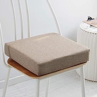 ZGYQGOO Coussin Chaise solicarré, Coussins siège en Mousse à mémoire Forme pour la Cuisine, chaises Bureau Coussin rehauss...