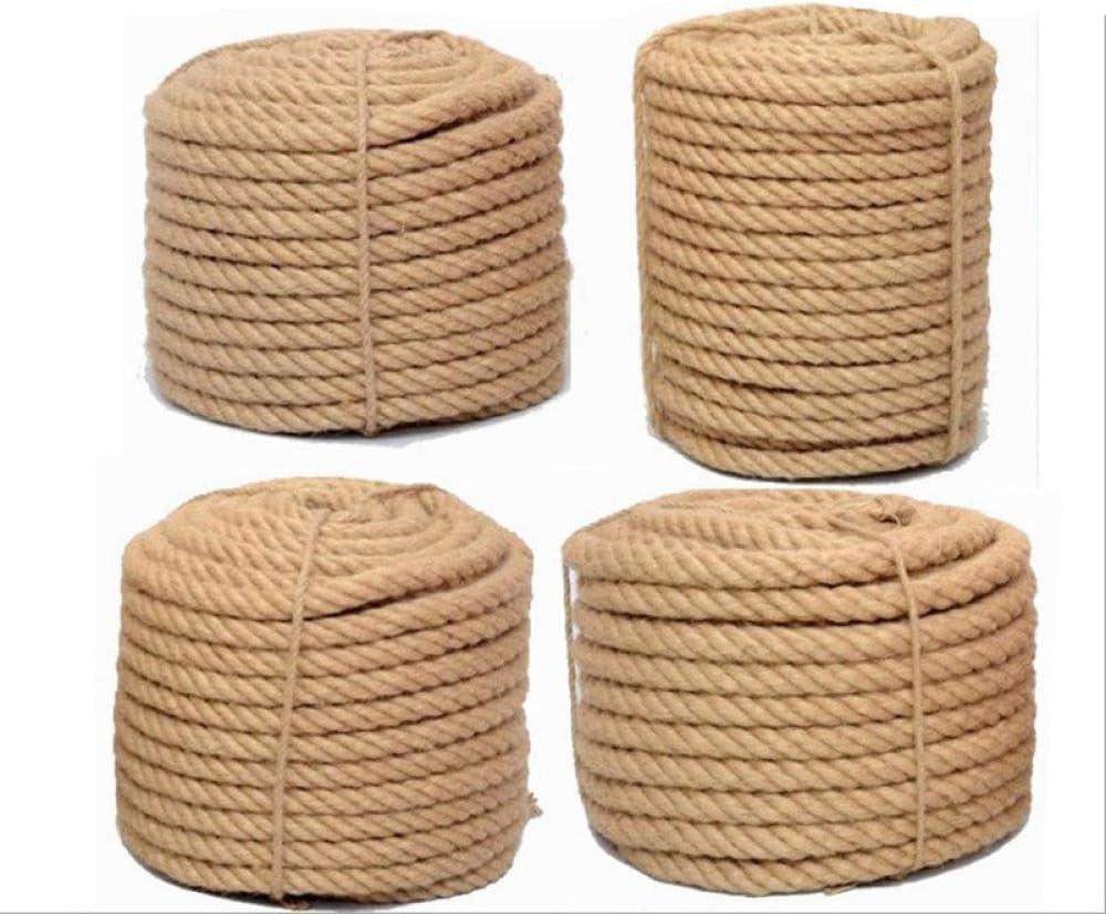 ZYHYCH Cuerda de Yute 100% Natural de 1 mm-16 mm, decoración ...