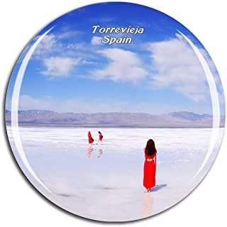Weekino Spain Salt Lake Torrevieja Fridge Magnet 3D Crystal Glass Tourist City Travel Souvenir Collection Gift Strong Refrigerator Sticker