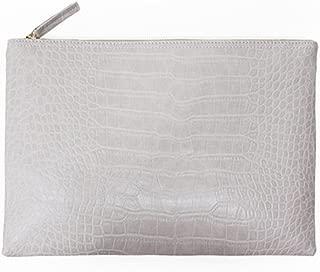 Women Clutches Crocodile Grain PU Leather Envelope Clutch Bag