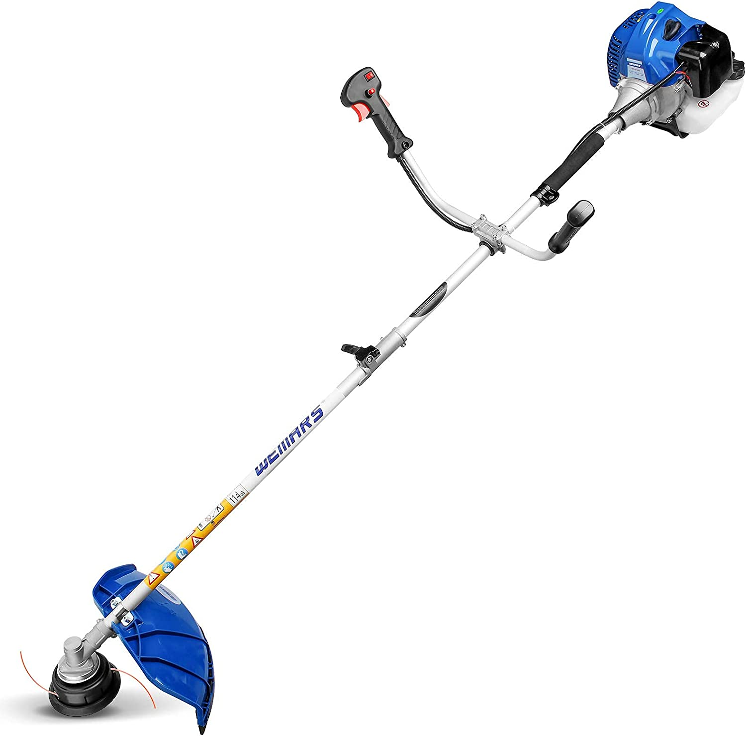WEMARS 42.7CC Gas String Trimmer Cutter Free shipping on posting reviews Brush 5 popular 2-Cycle Straig