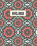 2021-2022 Two Year Planner: Rich Red and Green Mandala | Abstract Geometric Art | 2 Year Daily Weekly and Monthly Calendar Organizer | Vision Board ... Agenda Diary (Colorful Mandala Geometric Art)