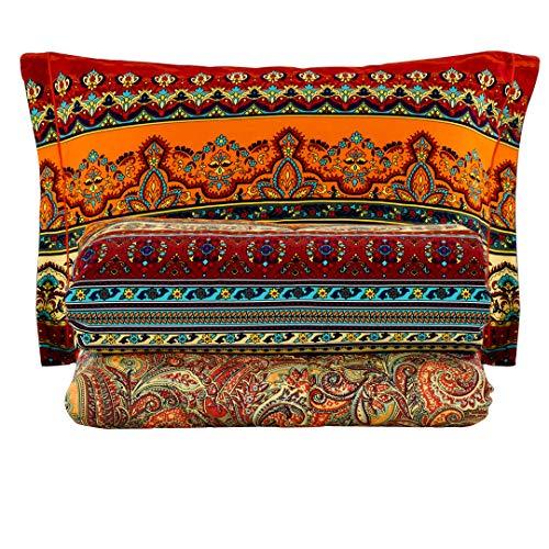 SexyTown-Bohemian King Size Comforter Set,Boho Chic Exotic Striped...