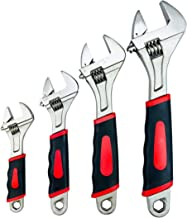 Navegando Adjustable Wrenches Set, Shifter Movable Spanners Set Adjustable Wrench Tools Kit with Rubber Grip (6/8/ 10/12 IN)