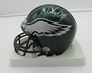 Riley Cooper Eagles Autographed/Signed Riddell Mini Helmet PASS 142356