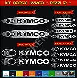 Pimastickerslab Aufkleber Stickers KYMCO -Motorrad- Cod. 0610 (Argento cod. 090)