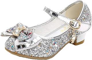 mama stadt Filles Glitter Princesse Cosplay Chaussures De Performance Paillettes Habiller Chaussures Bas Parti De Talons D...