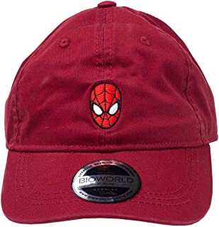 Spiderman Baseball Cap Dad Cap Mask Logo Official Red Strapback