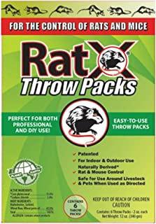 RatX Non-Toxic Bait Pellet Throw Pack For Mice and Rats 6 pk