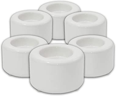 """His-T-ry Apparel Sublimation Candle Holder (Blank) - 3"""" x 1.85"""" - 6 Pack"""
