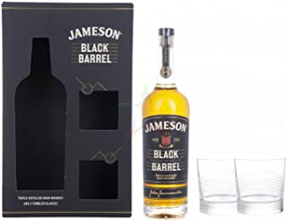 Jameson BLACK BARREL Triple Distilled Irish Whiskey mit 2 Gläsern 40,00% 0,70 lt.