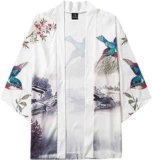 Cárdigan Hombre Camiseta 3/4 con Estampado 3D Japonés Camisa Primavera Originales Slim Fit Retro Flojo para Verano Tallas ...