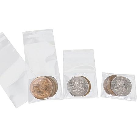 【100枚】小銭用 CPP袋 40ミクロン厚(厚口)透明 硬貨3~4枚の小分け、持ち歩きに便利!【国産】