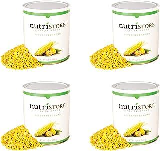 Nutristore Freeze Dried Corn | Pack of 4 | 160 Servings | 62 oz | 25 Year Shelf Life | Amazing Taste | Healthy Snack | Eme...