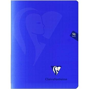 couverture polypro Bleu Un cahier piqu/é Mimesys 48 pages 21x29,7 cm 90g grands carreaux Clairefontaine 323101C