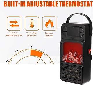 Ashey Chimenea 900W calefactores Efecto Portátil Bajo Consumo, Estufa Aire Caliente, Sensor Sobrecalentamiento y Antivuelco, para Sala de Oficina de Invierno