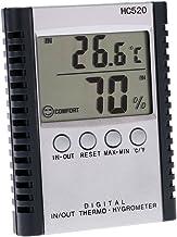 Baugger TERMÓMETRO - LCD Digital Termómetro Interior/Exterior Higrómetro Temperatura Medición de Humedad ° C / ° F Visualización Mínima de Valor Mínimo