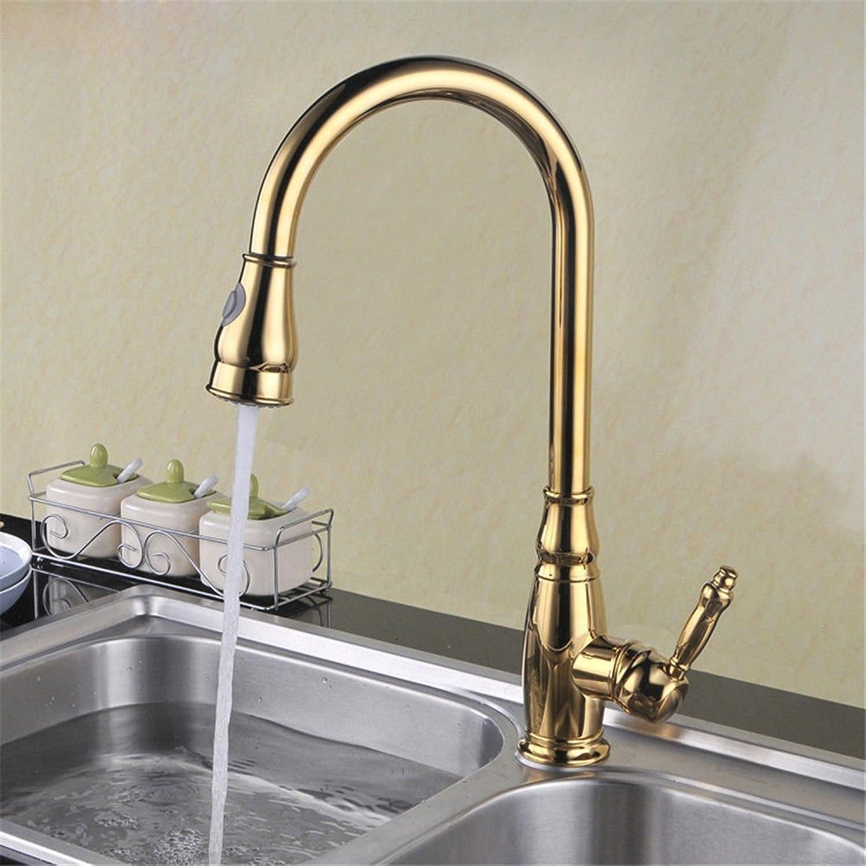 Gyps Faucet Waschtisch-Einhebelmischer Waschtischarmatur BadarmaturAntike Kupfer Küche Gerichte im gesamten Becken von kaltem Wasser Pull-Down Küche Wasserhahn,Mischbatterie Waschbecken