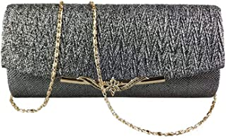 Nuanmu Women Evening Bags Glitter Bag Party Wedding Clutch Wallet Handbag Shoulder Bag