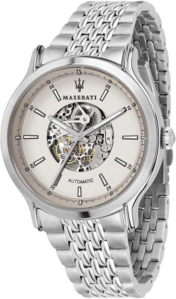 Maserati orologio da uomo, collezione legend, automatico, in acciaio 8033288861454
