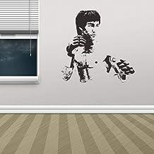 ZZFGXX Pegatinas De Pared,Vinilo Decorativo Tridimensional Bruce Lee 3d 57x56cm Adecuado Para La DecoracióN De Paredes De ...