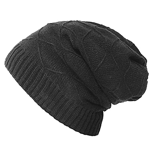 Black Lee Cooper Kids Hat Boys Beanie Hat Kintted Warm and Comfortable Hat