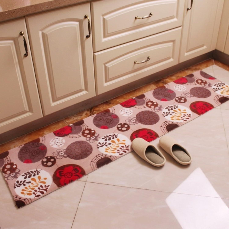 Kitchen Water-Absorbing Mats Linear Sliding Door Mats Balcony Floor Mat Door Mats in The Hall Living Room Bedroom Bedside Blanket-B 45x150cm(18x59inch)