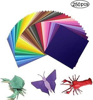 hecho a mano papel para impresora 100 hojas de papel pastel A4 Papel de origami de colores 10 colores de arco/íris