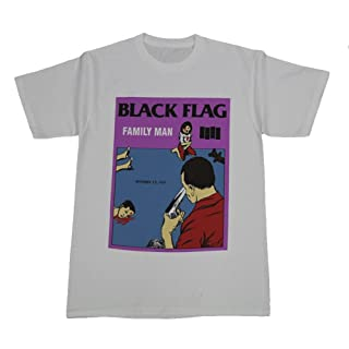 Black Flag Family Man T-Shirt Medium White
