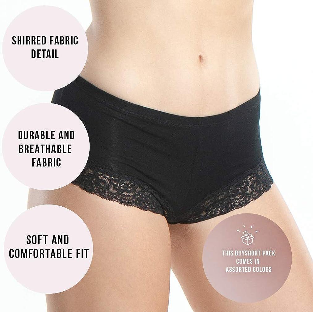 Emprella Women/'s Boyshort Panties Comfort Ultra-Soft Cotton Underwear 3-Pack