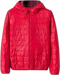 $33 » Winter Jacket Fashion Womens Windbreaker Hooded Jacket Coat Warm Long Sleeves Overcoat Red