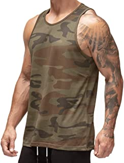 Magiftbox Mens Workout Mesh Quick-Dry Muscle Gym Tanks Basic Tank Tops for Gym Bodybuilding Training