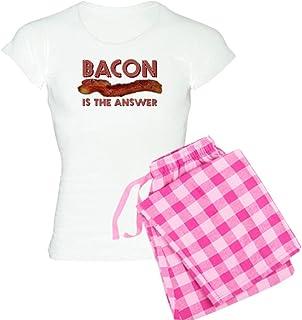 43dedb4f CafePress - Bacon is the Answer Women's Light Pajamas - Womens Novelty  Cotton Pajama Set,