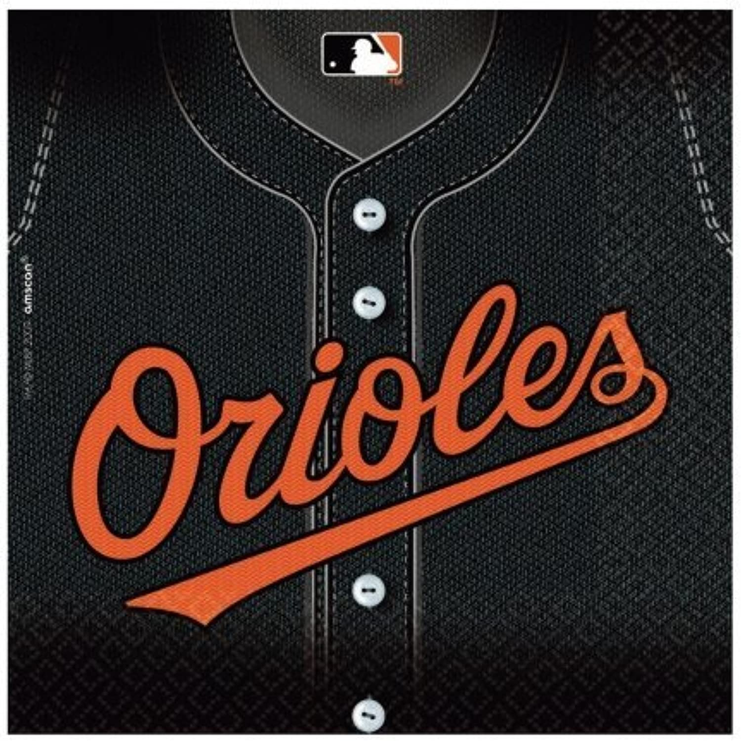 Costumes 203748 Baltimore Orioles Baseball- Lunch Napkins by Unknown