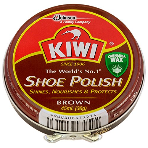 ジョンソン キィウイ 油性靴クリーム 茶 45mL